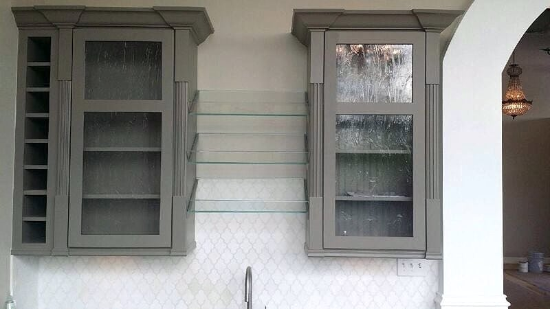 Glass Facing for Custom Cabinets