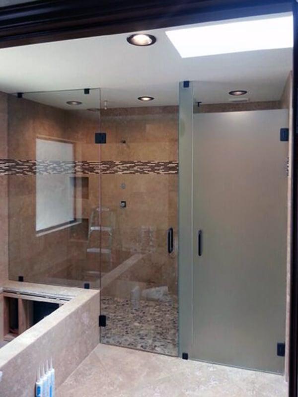 Custom Frosted Glass Shower Door