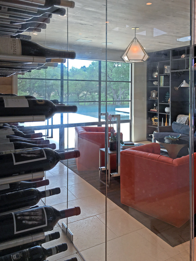 Custom Glass Wine Room