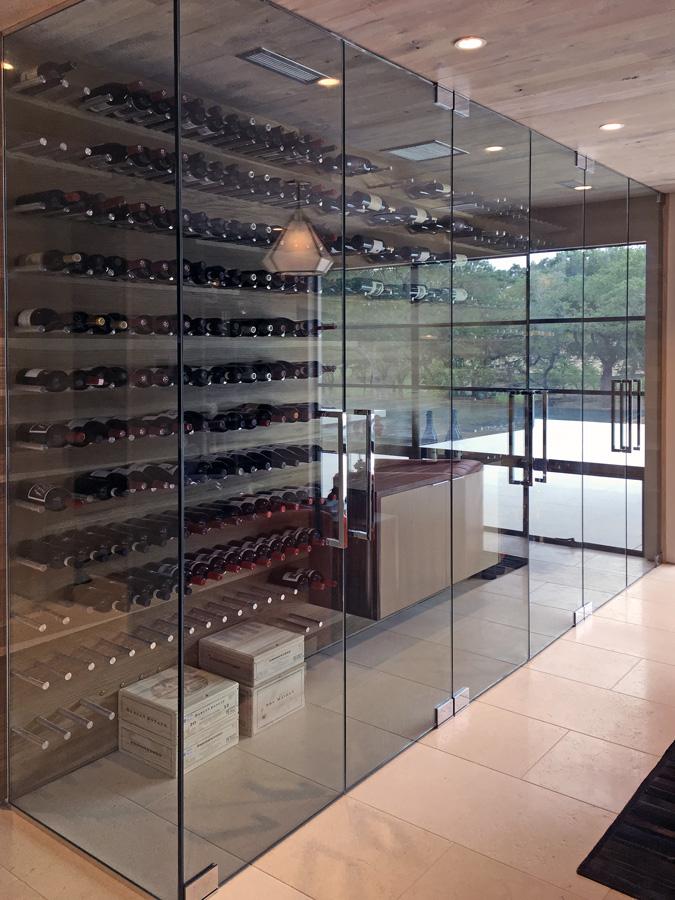 Frameless Glass Wine Room