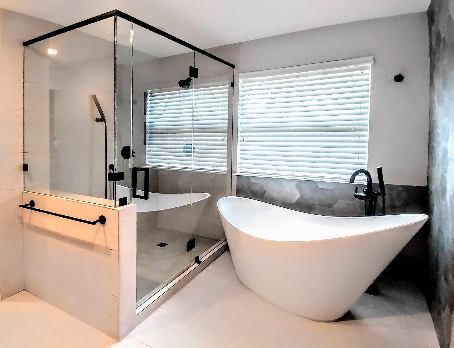 Frameless 90 Degree Shower Enclosure