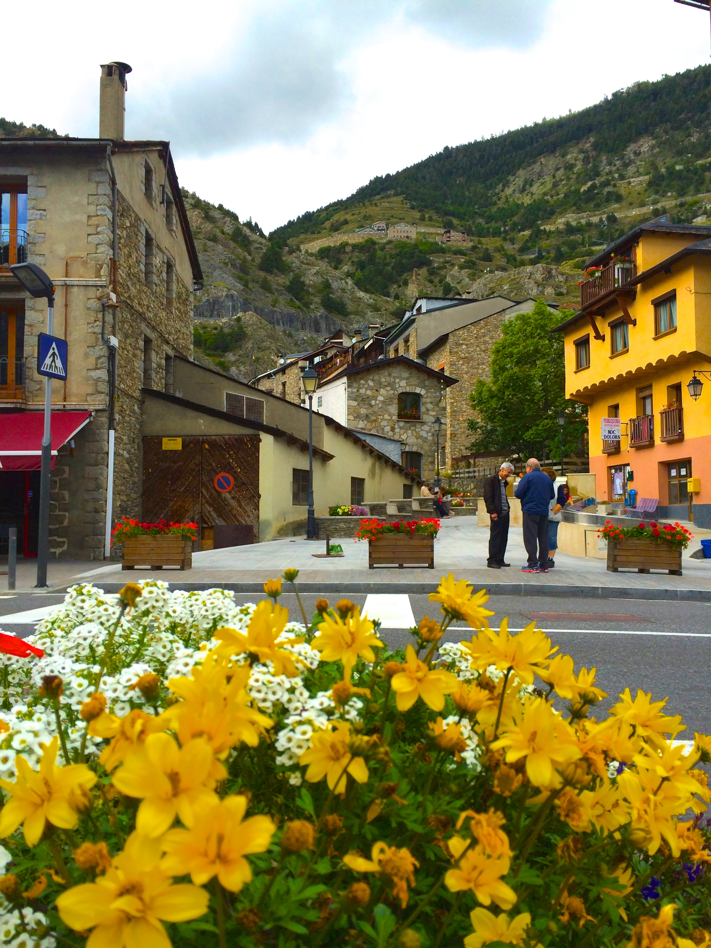 The center of Canillo, Andorra - Our favorite parish.