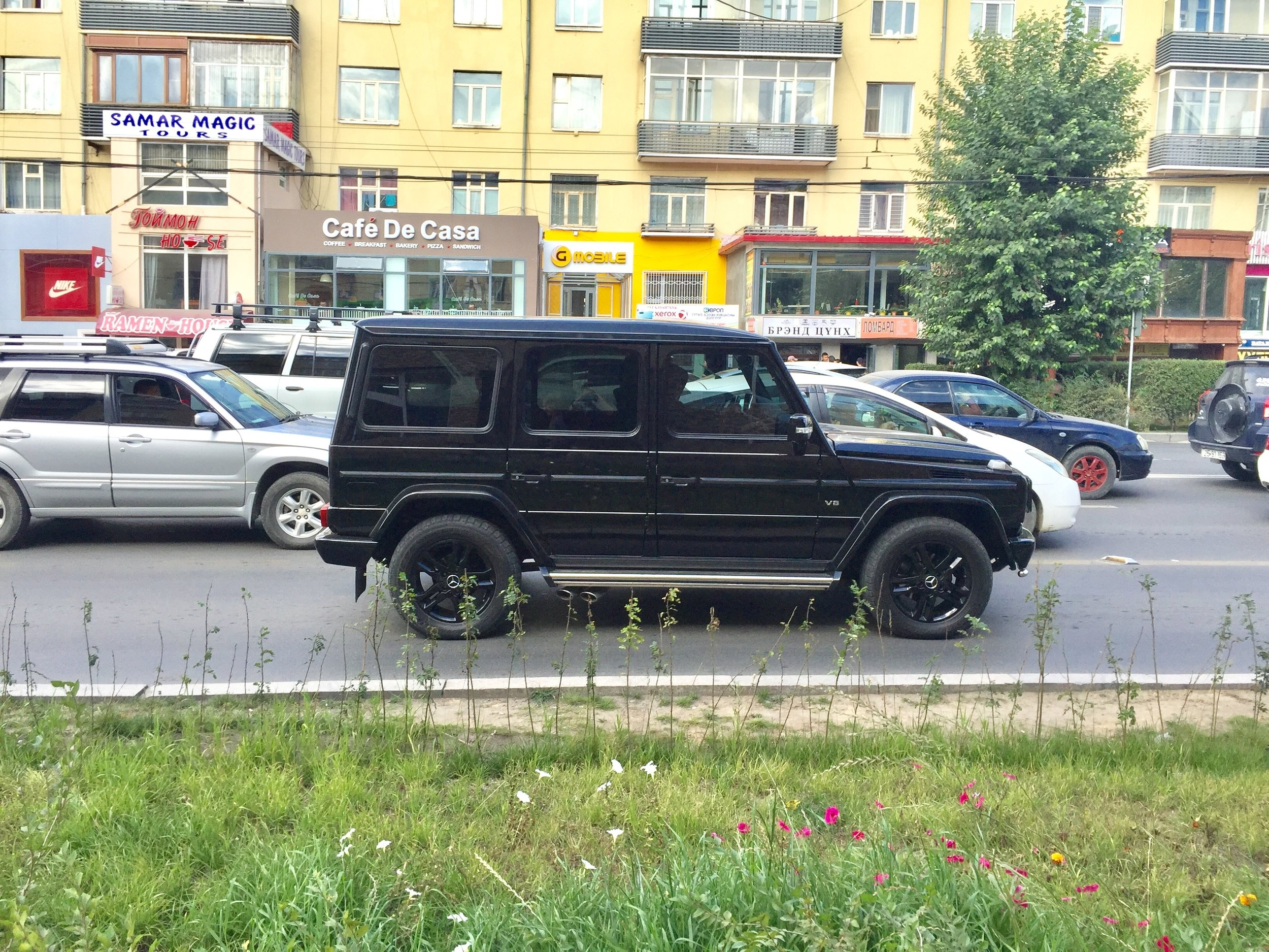One of many Mercedes G-Wagens we spotted on the streets of Ulaanbaatar, Mongolia