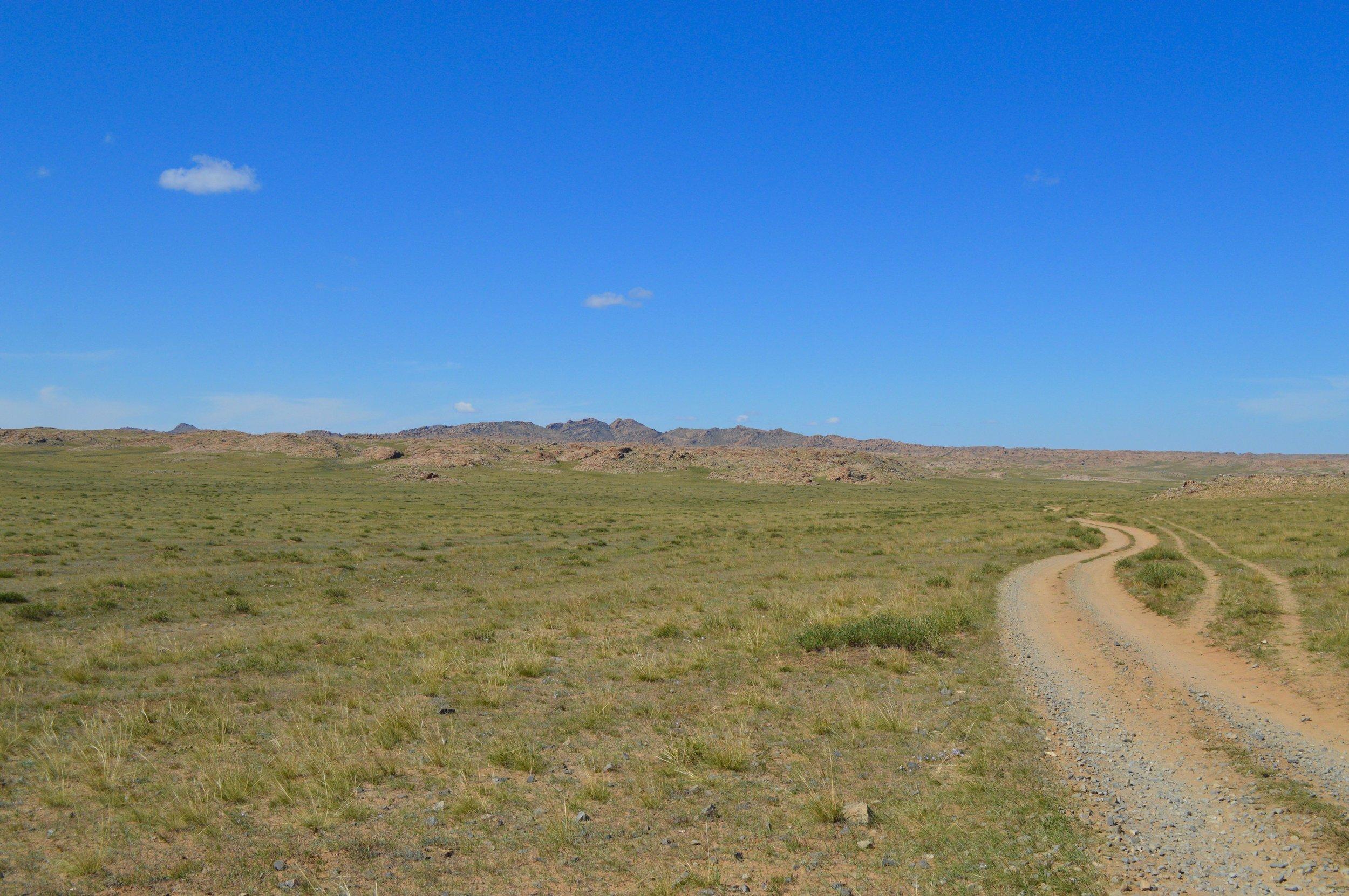 Winding dirt roads