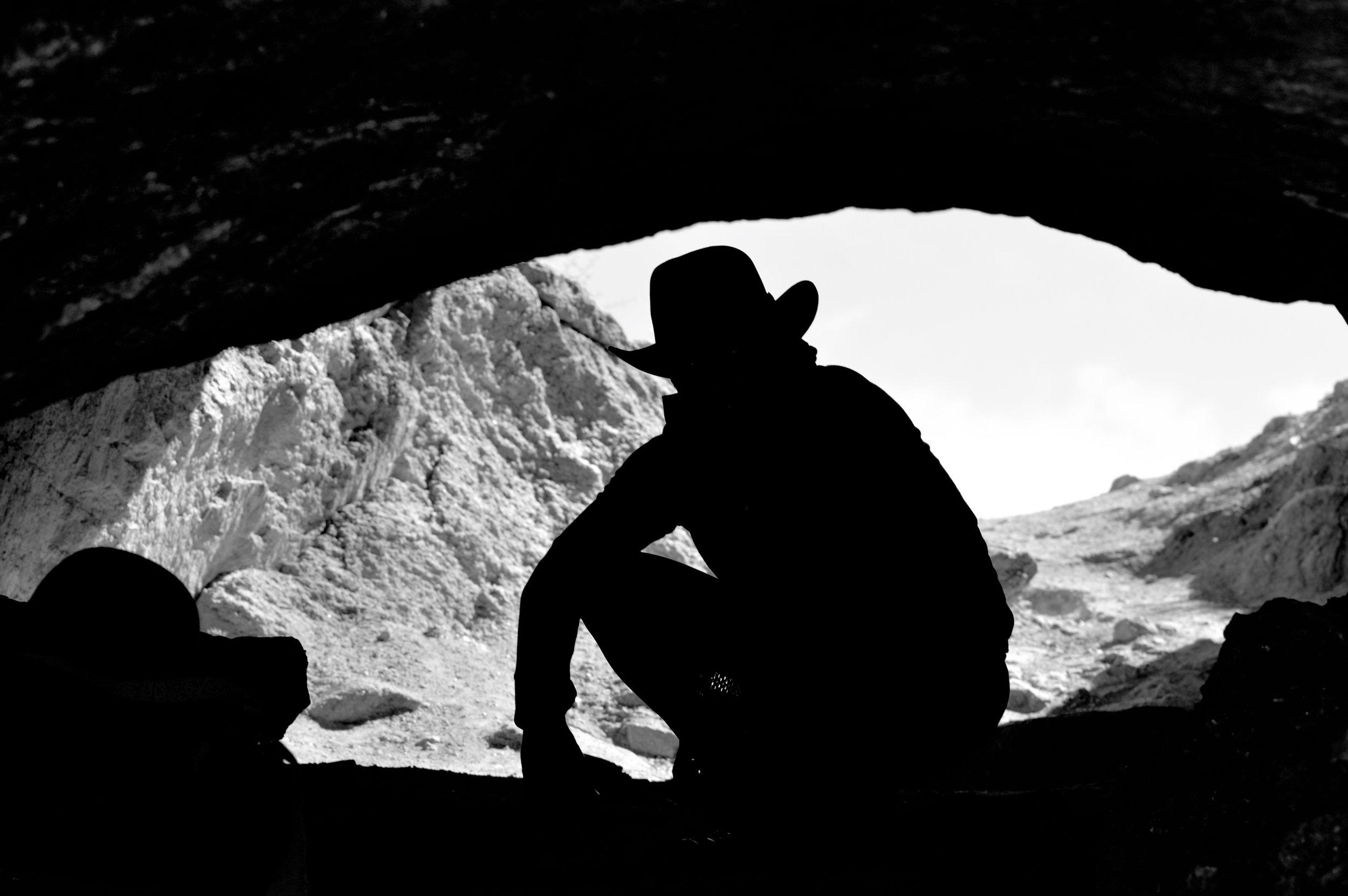 Art crawls inside the cave
