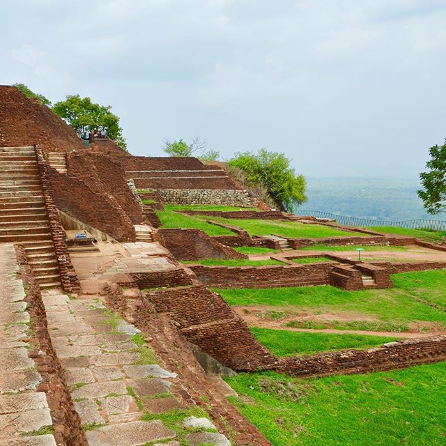 We hiked to the top of Sigiriya Rock Fortress and it reminded me a bit of Machu Pichu!