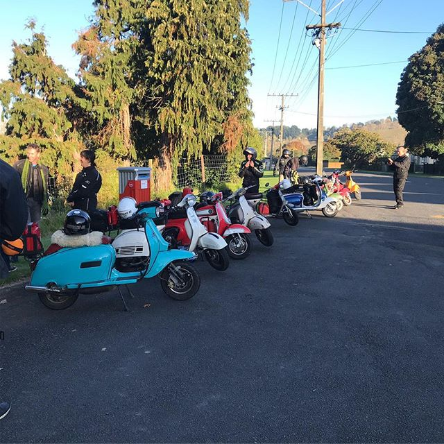 Scoots all lined up ready for the final day