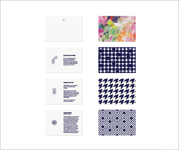 Sample of packaging and brand collateral, care instruction cards