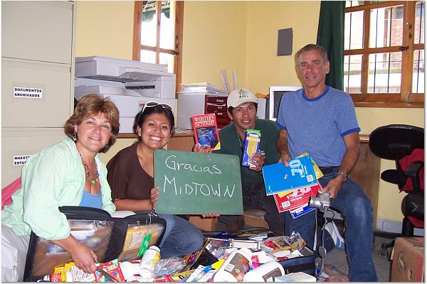 RWF volunteers delivering medical supplies in Guatemala.