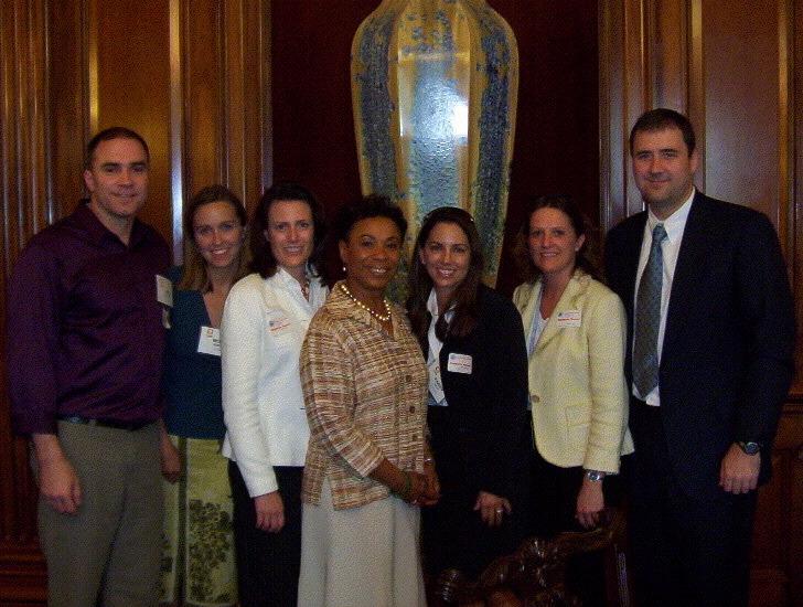 RWF volunteers with Congresswoman Barbara Lee in Washington, DC.
