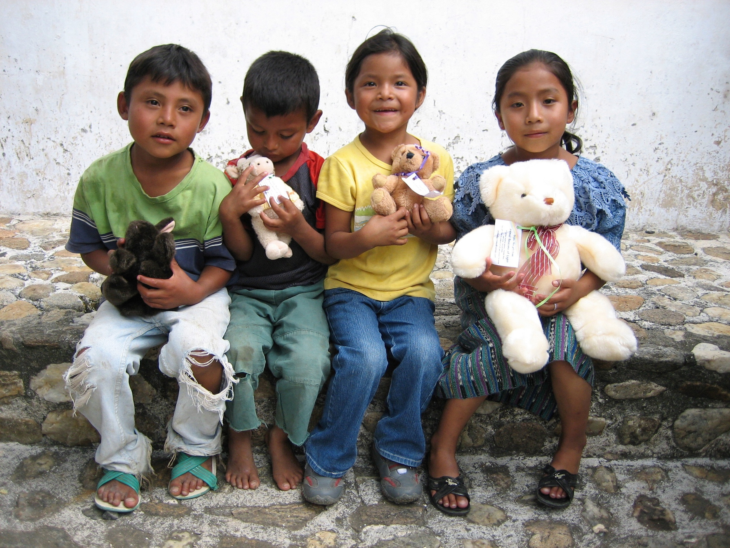 When RWF travels to other countries in addition to distributing grants and in-kind aid we often bring stuffed animals for the children.