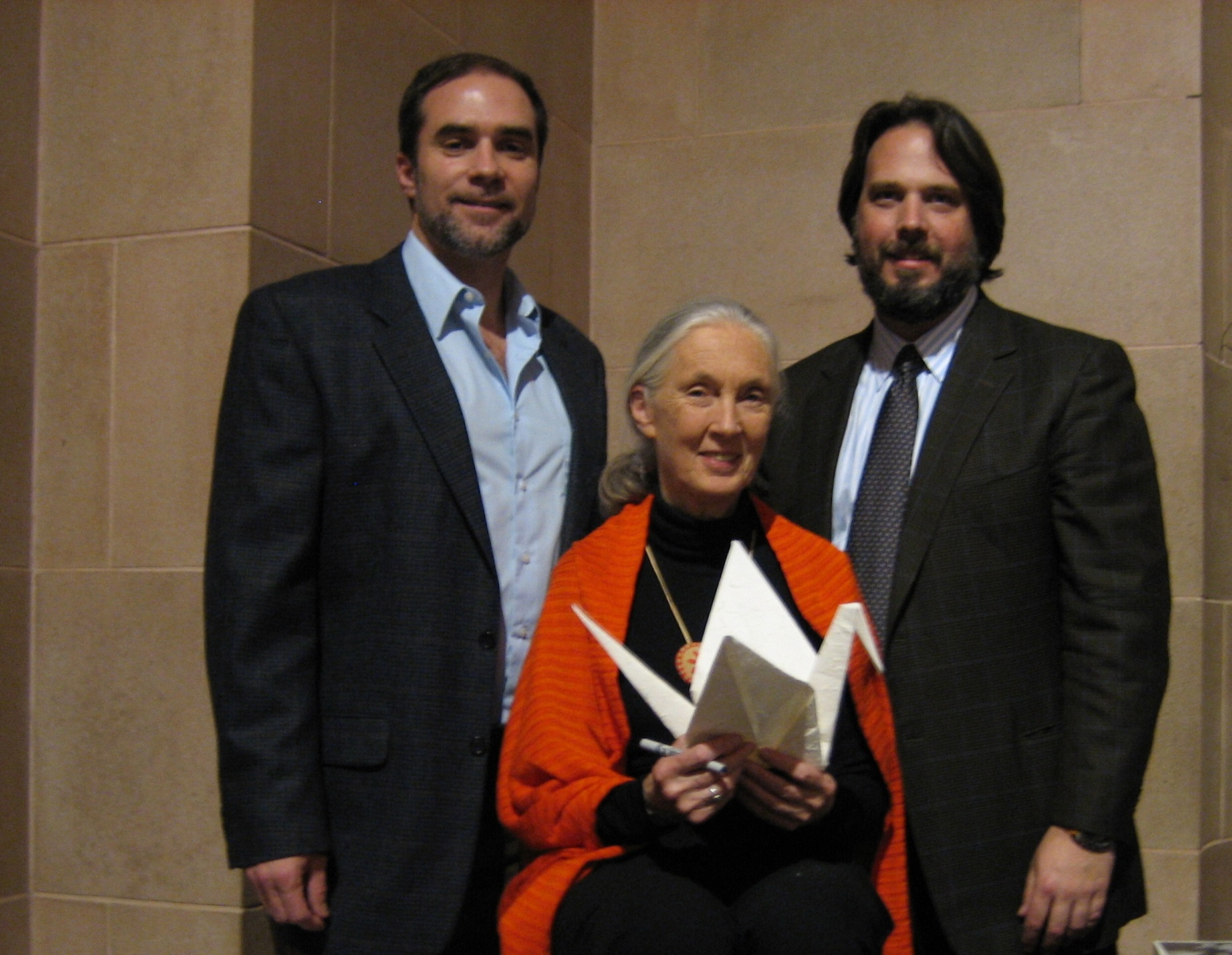 Jeff Cotter, Dame Jane Goodall, Paul Stankiewicz