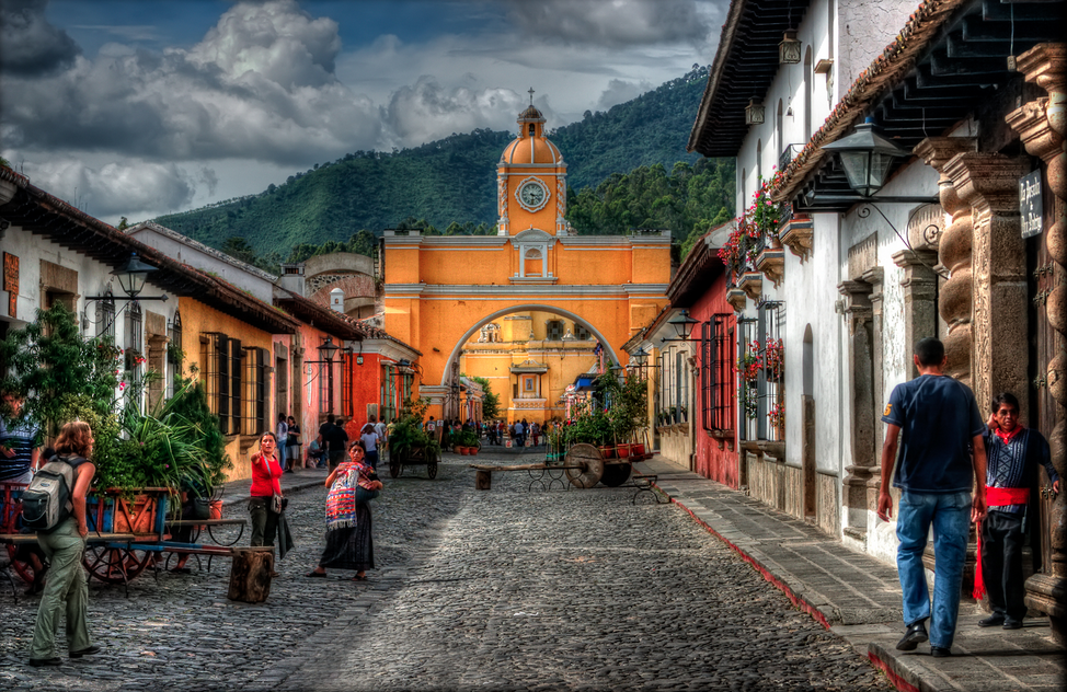 Arco Santa Catalina in beautiful downtown Antigua. The iconic archway dates to the 1600s.