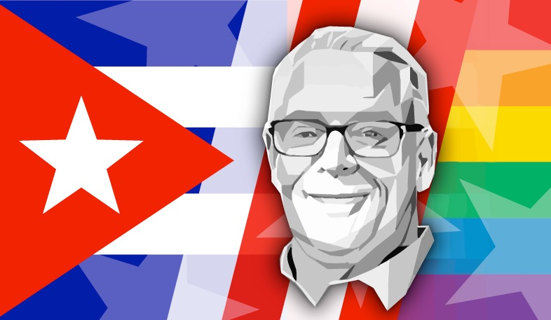 Cleve Jones Cuba 2019 flag banner.jpg
