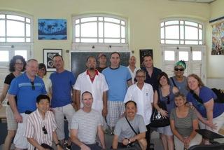 RWF volunteers visiting a children's neuropsychiatric clinic (2012)