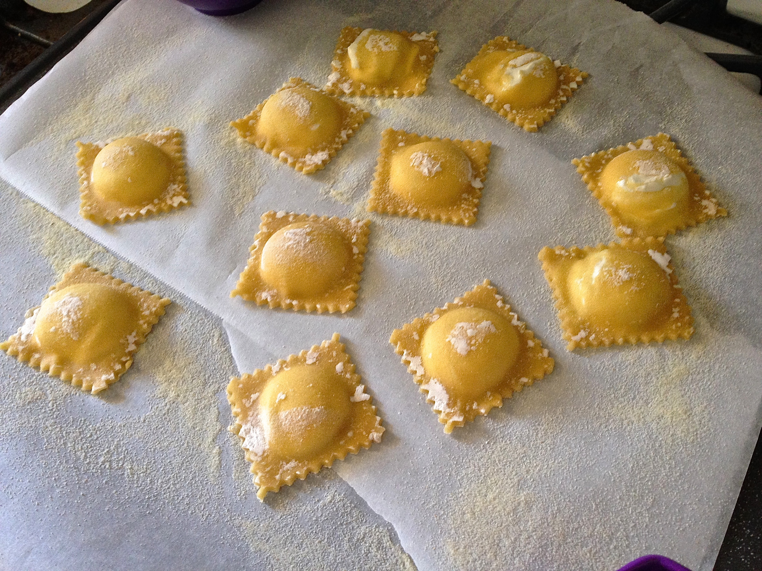 Fresh Goat Cheese Ravioli with Heirloom Tomato Carpaccio in Brown Butter Sage Sauce | Kneading Home