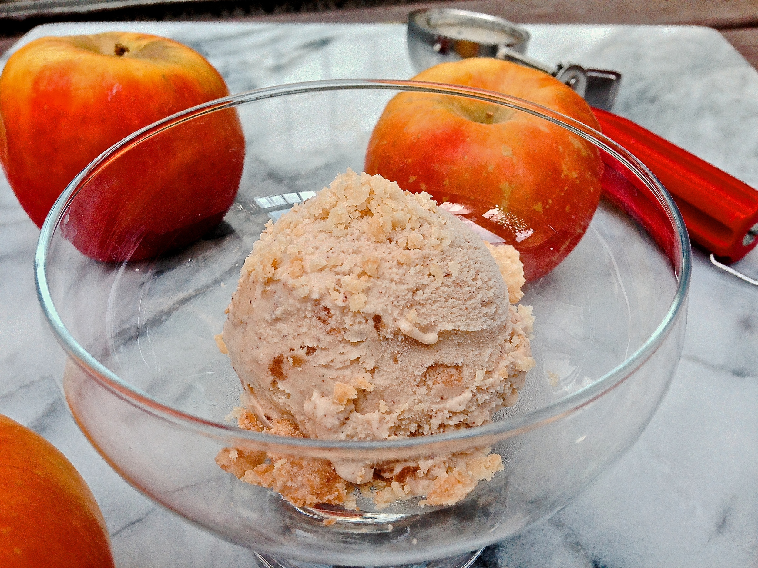 Cinnamon Apple Pie Ice Cream | Kneading Home