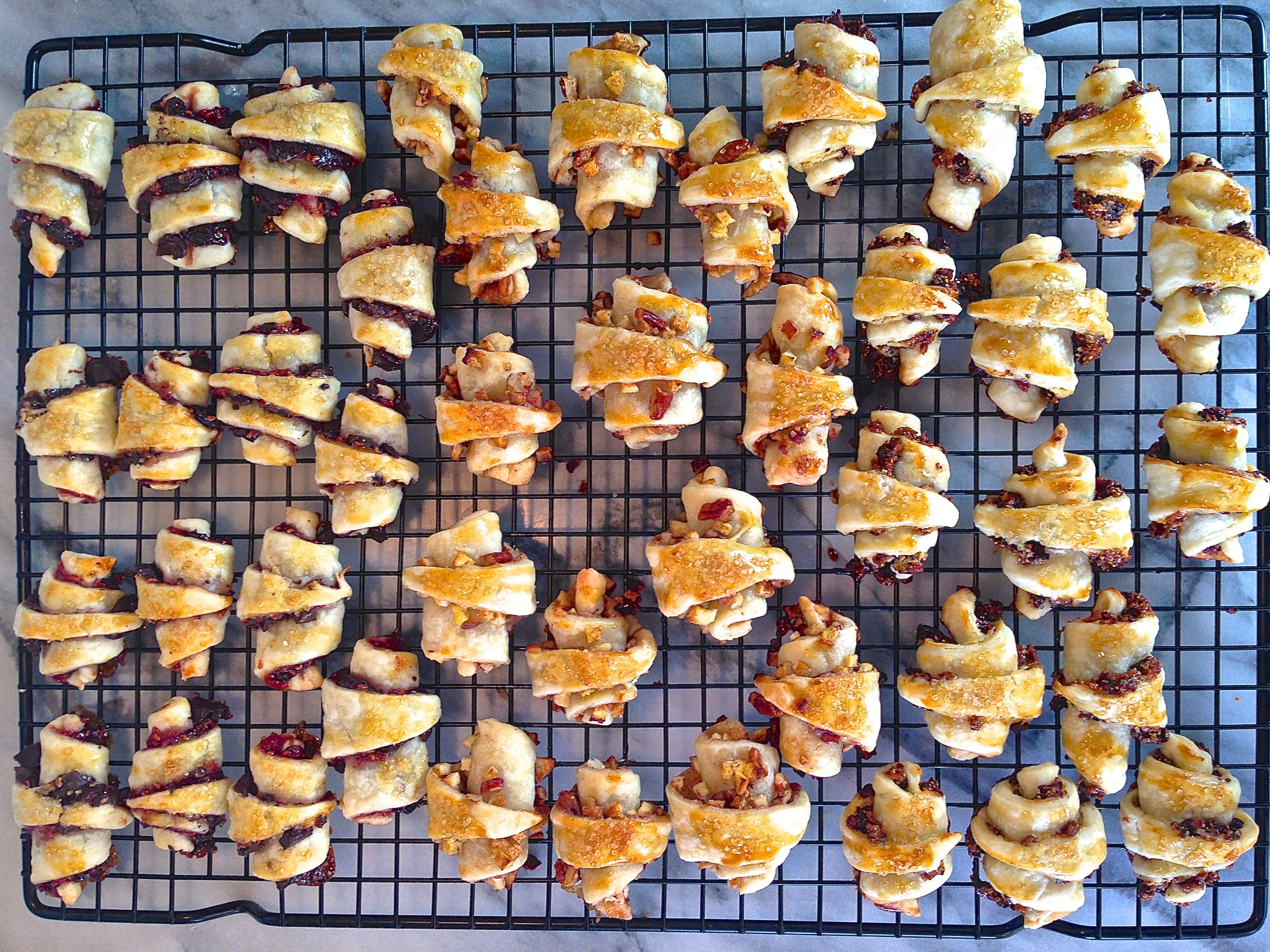 Homemade Rugelach 3 Ways: Chocolate Raspberry, Cinnamon Apple with Toasted Pecans, & Honeyed Fig with Goat Cheese | Kneading Home