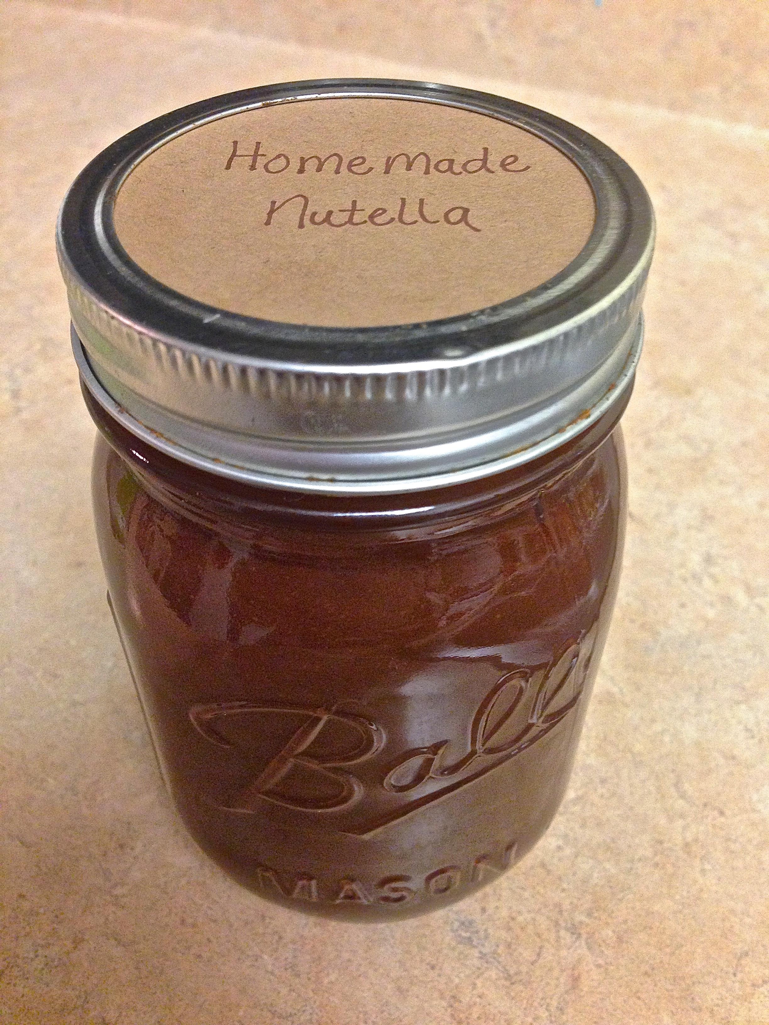 Homemade Dark Chocolate Nutella {vegan} | Kneading Home