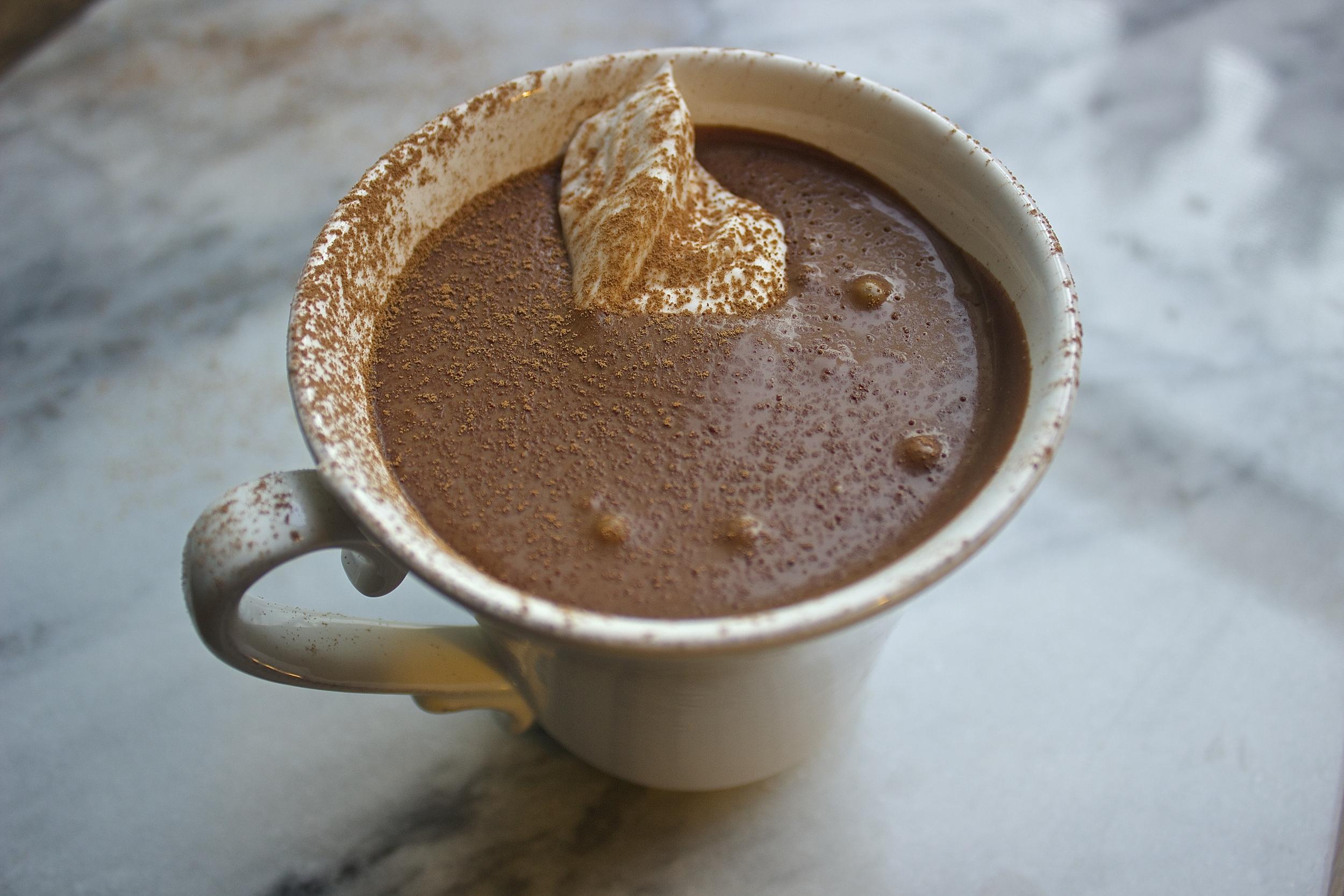 Creamiest Vegan Hot Chocolate   Kneading Home