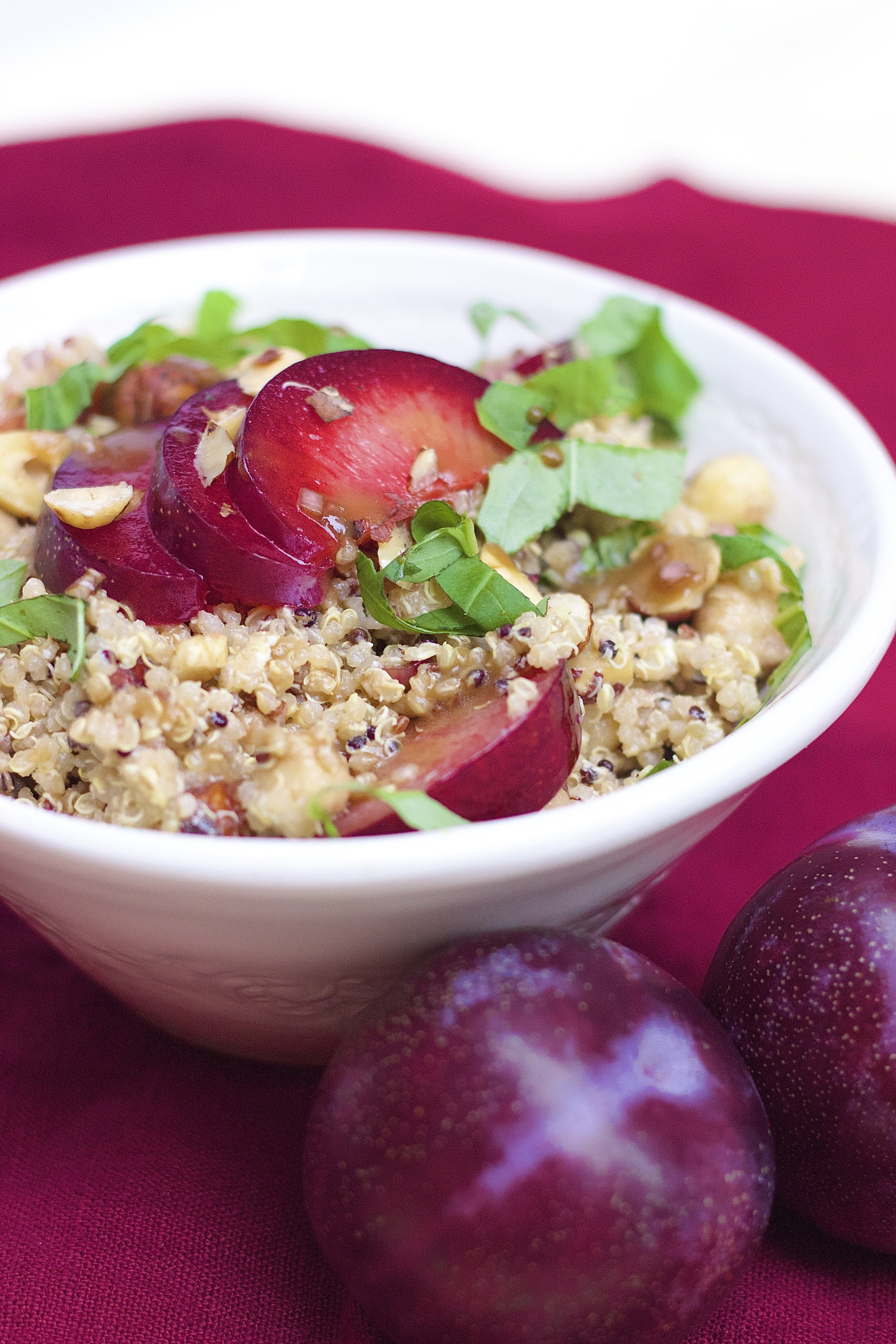 Quinoa Pluot Bowls | Kneading Home