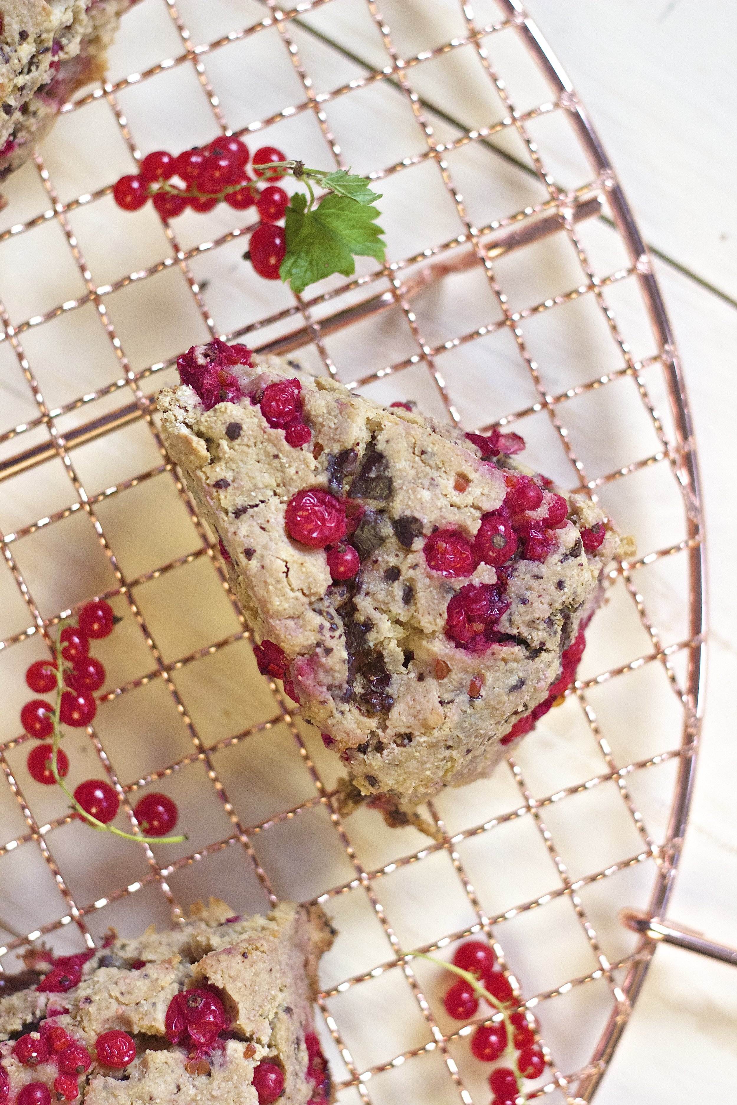 Fresh Red Currant & Dark Chocolate Scones {gf + vegan} | Kneading Home