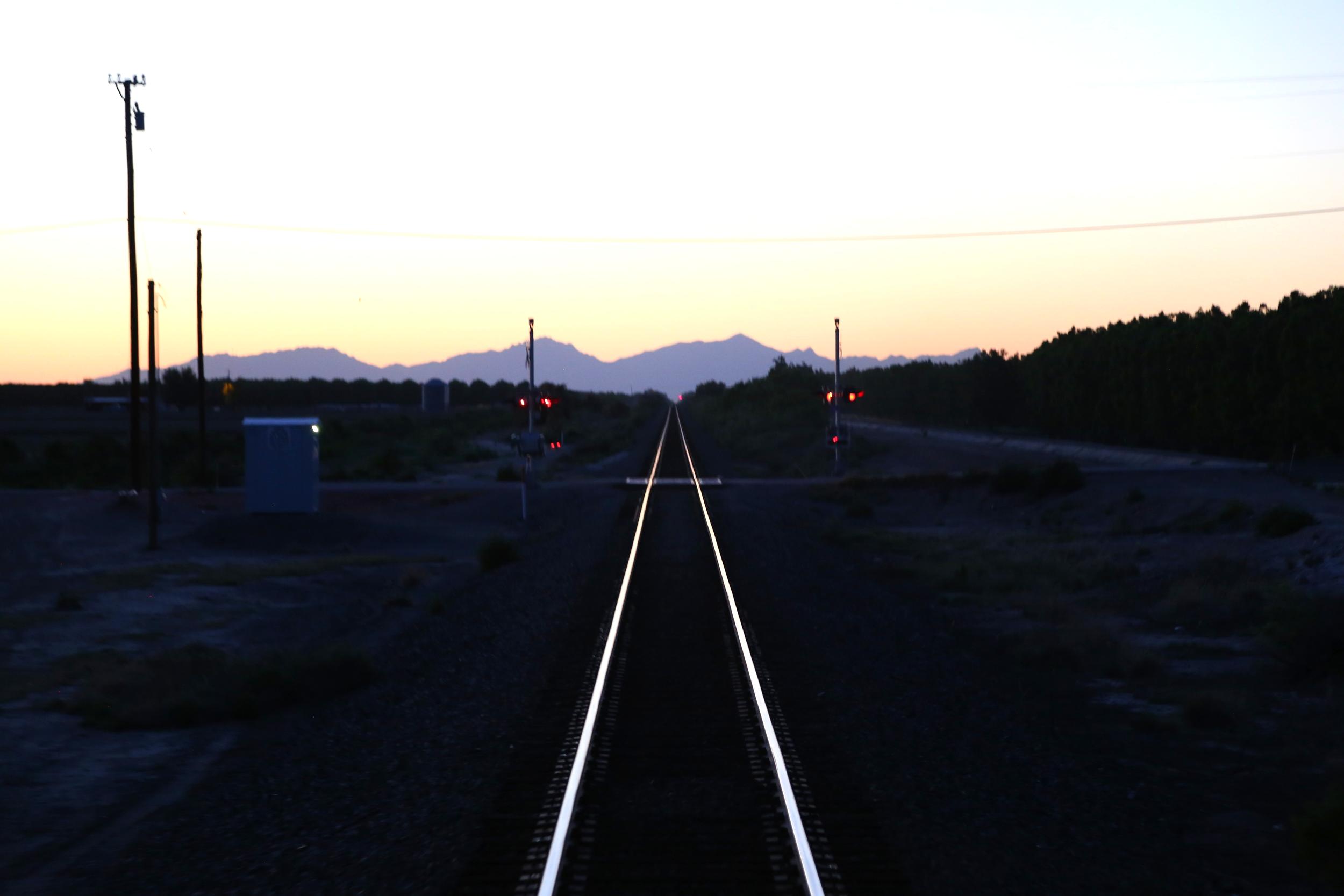 Sunset along the Texas/Mexico border