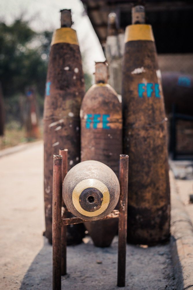 Thousands of unexplodedshells are dug up each year in Laos.