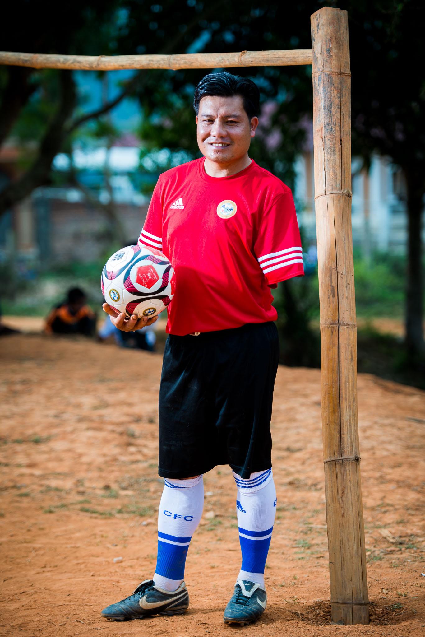 Spirit of Soccer coach, Laos, April 2015