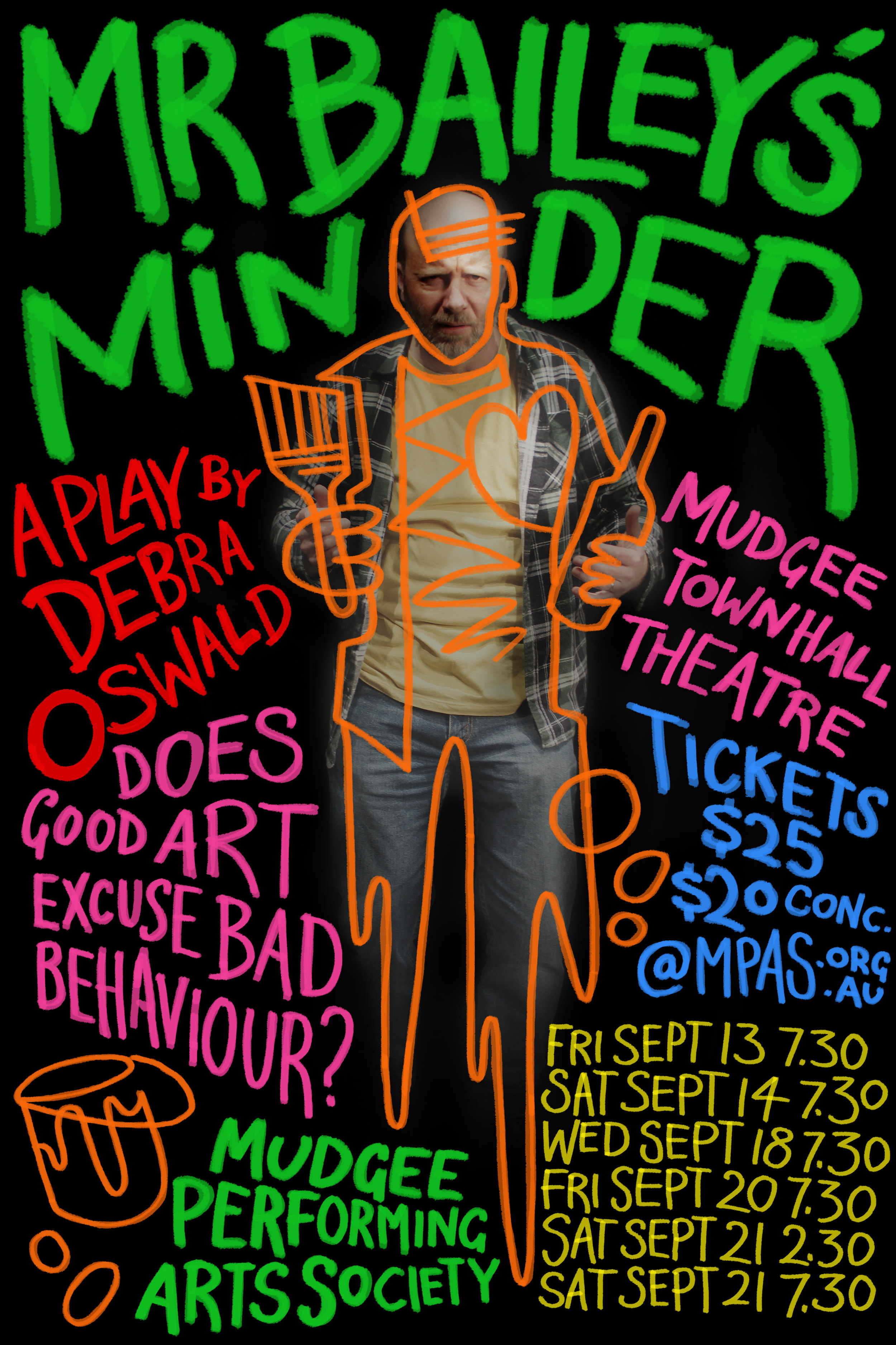 Mr Bailey's Minder - A play by Debra Oswald concerning the relationship that develops between burnt out artist, Leo Bailey and his minder, Therese.