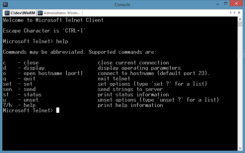 The 80s just called - they want their telnet client back