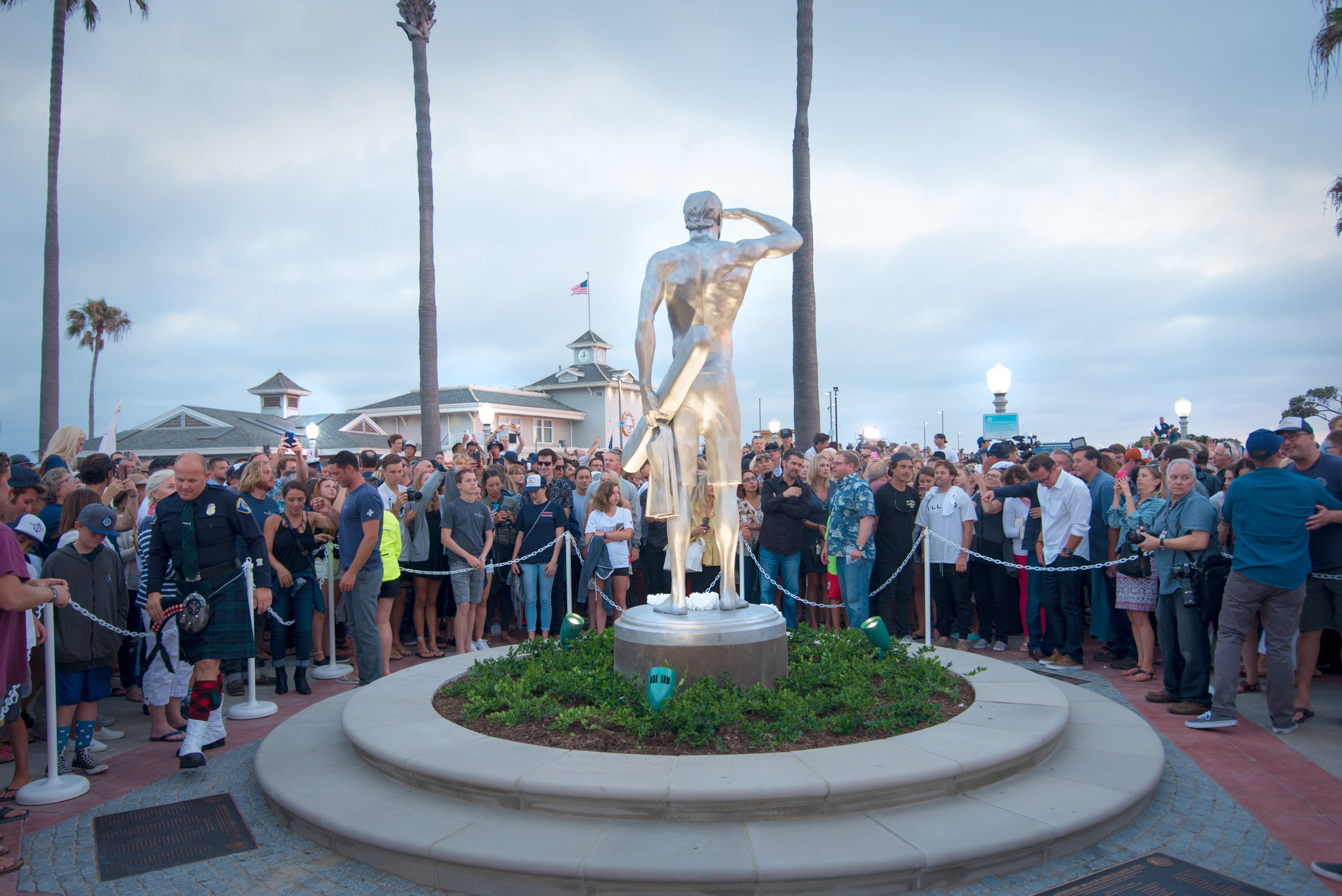 The Ben Carlson Statue Unveiling on July 6, 2016. Photo: Karges Media