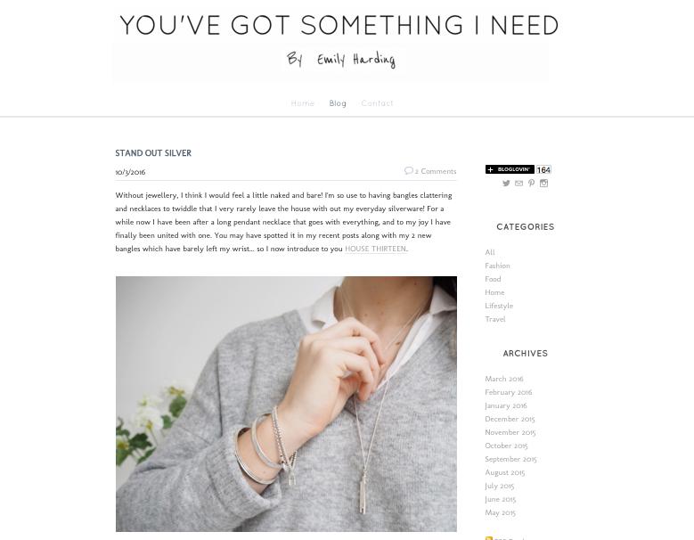 You've Got Something I Need | blogger