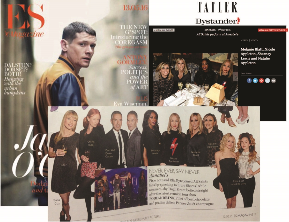 All Saints x ES magazine + Tatler online | press