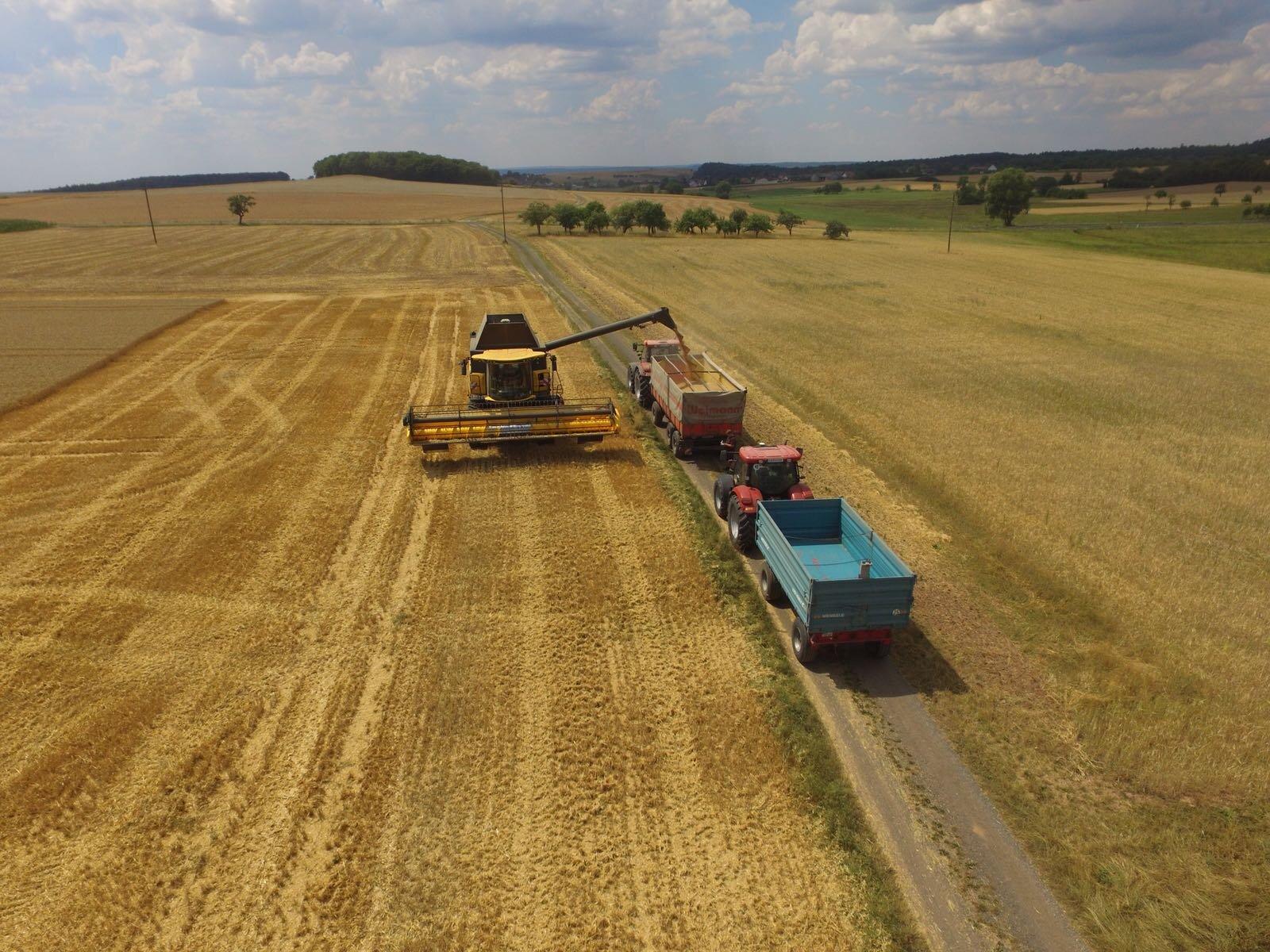 Erntearbeiten im Sommer