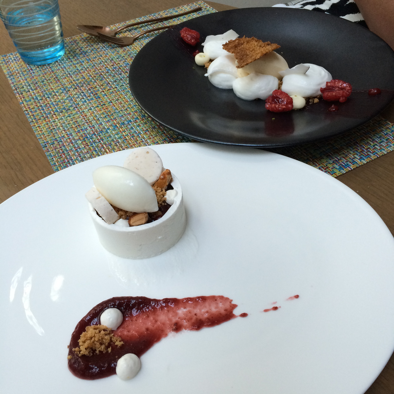 Fig and orange blossom pudding