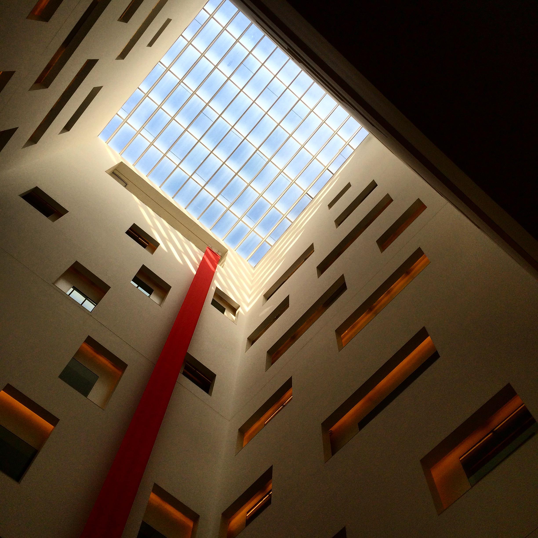 the atrium of the hotel