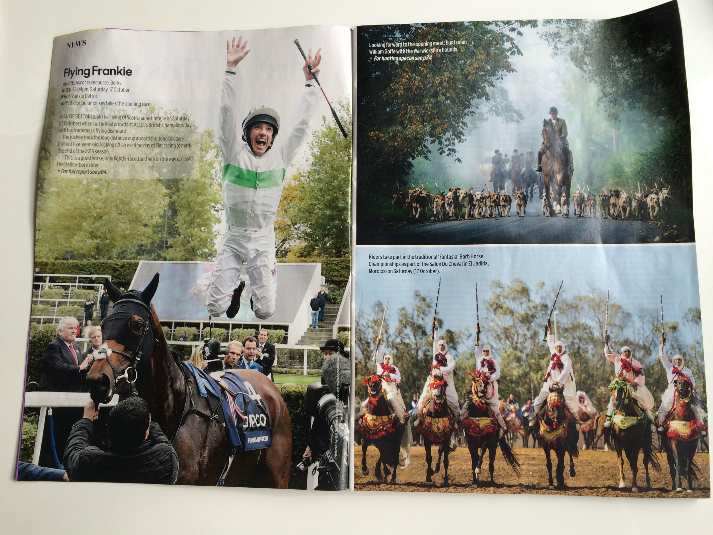 HORSE AND HOUND MAGAZINE - MY PICTURE IF THE BOTTOM RIGHT