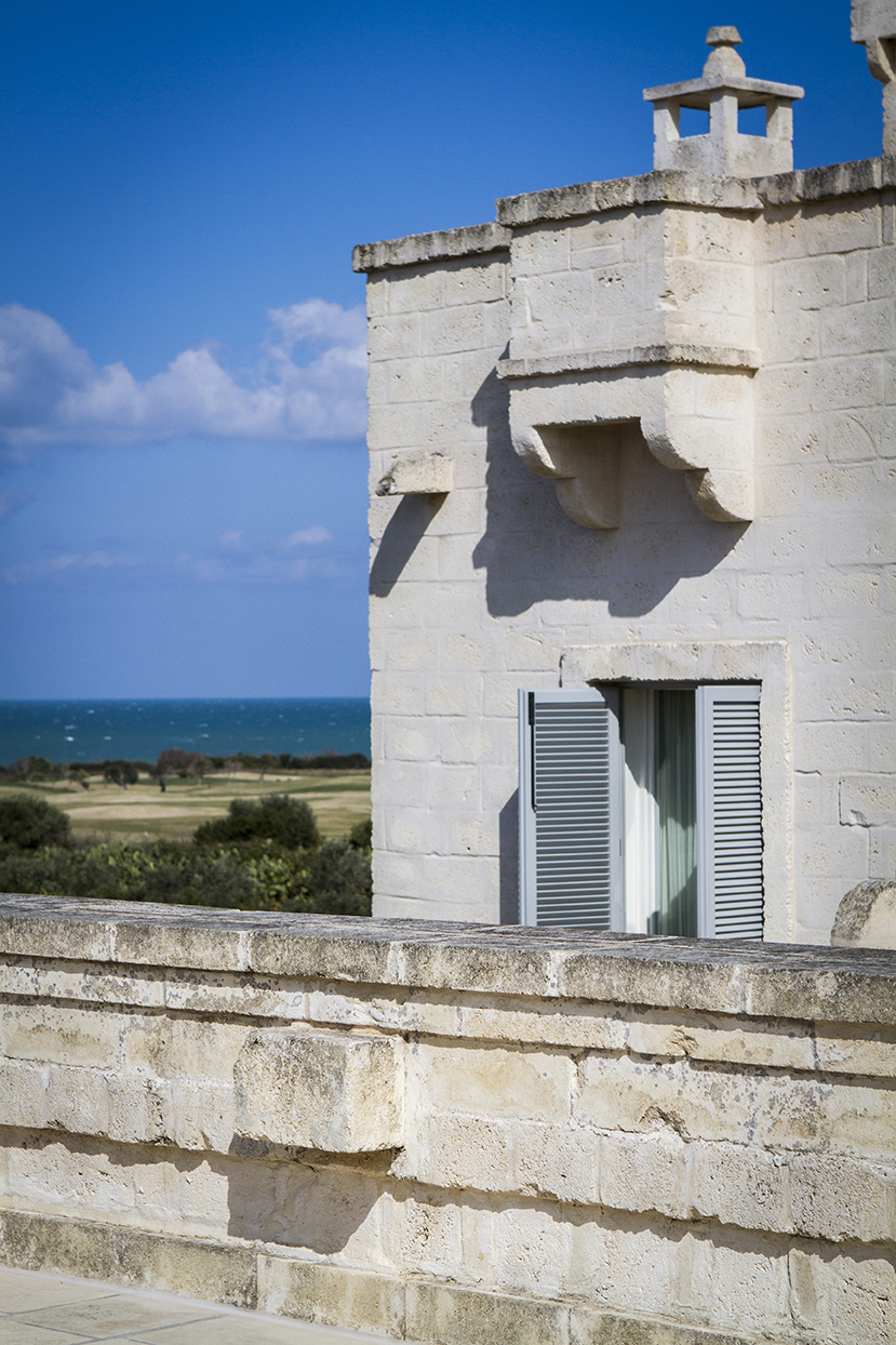 view from the rooftop of La Corte, hotel room in view, adriatic sea to the distance.jpg