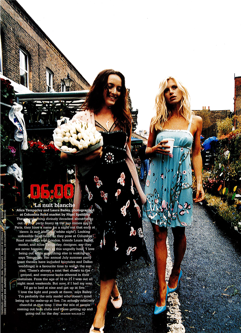 Laura and Alice for Harpers & Queen by Nigel Spalding