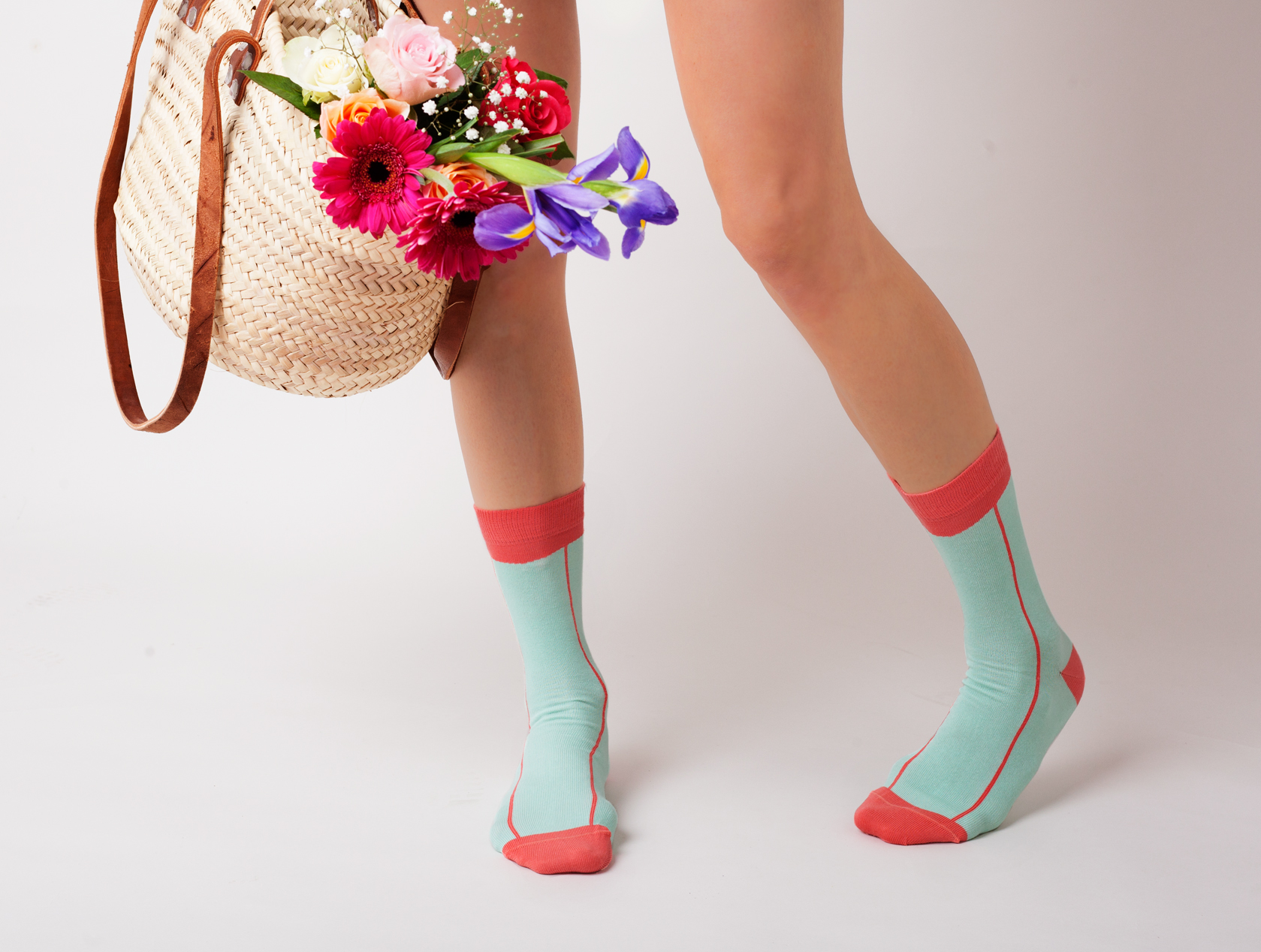 CORAL STRIPE ANKLE SOCKS.jpg