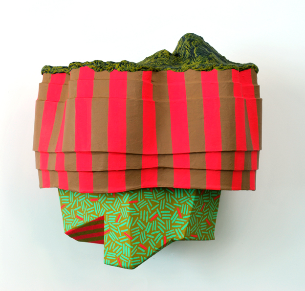 Big Top    Flashe on book board with paper mache; 2016