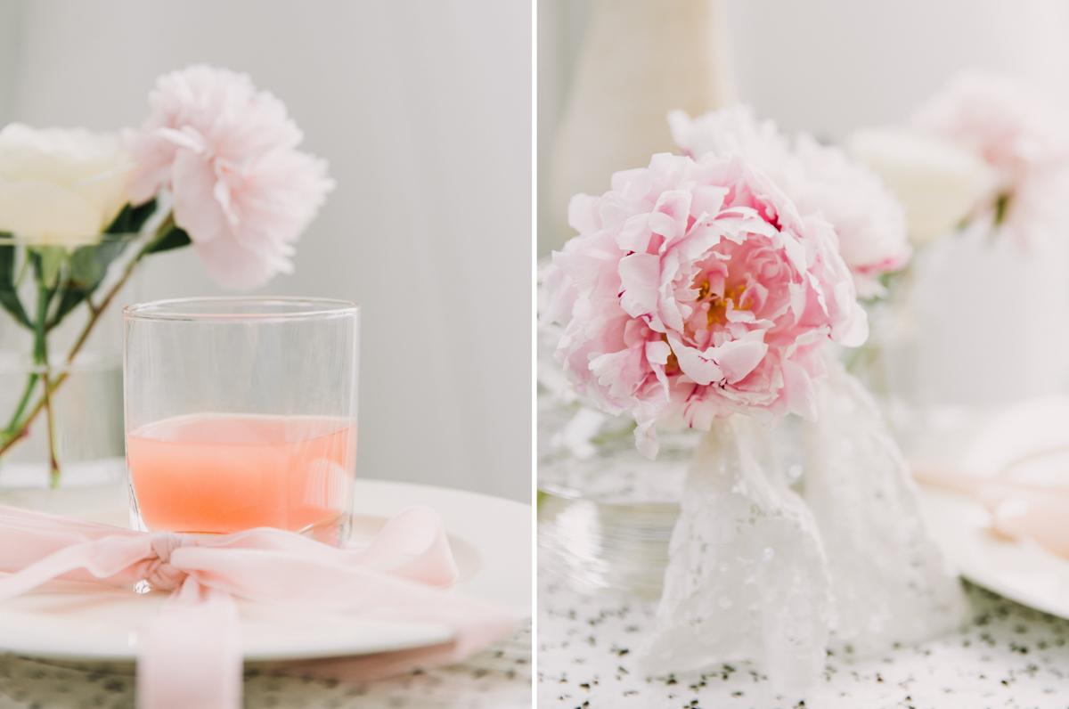 peach-drink-with-pink-ribbon-wedding-decor