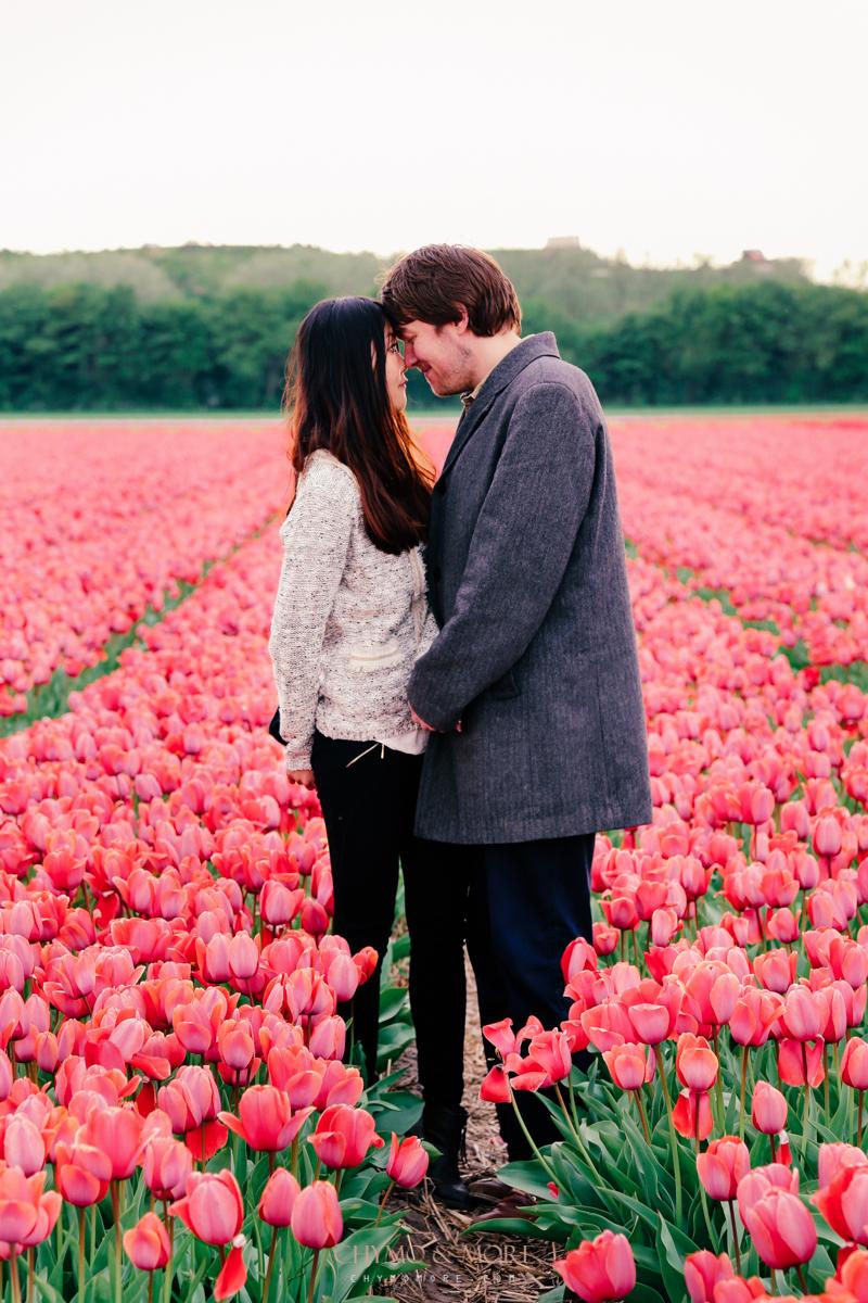 Loveshoot in tulpenveld