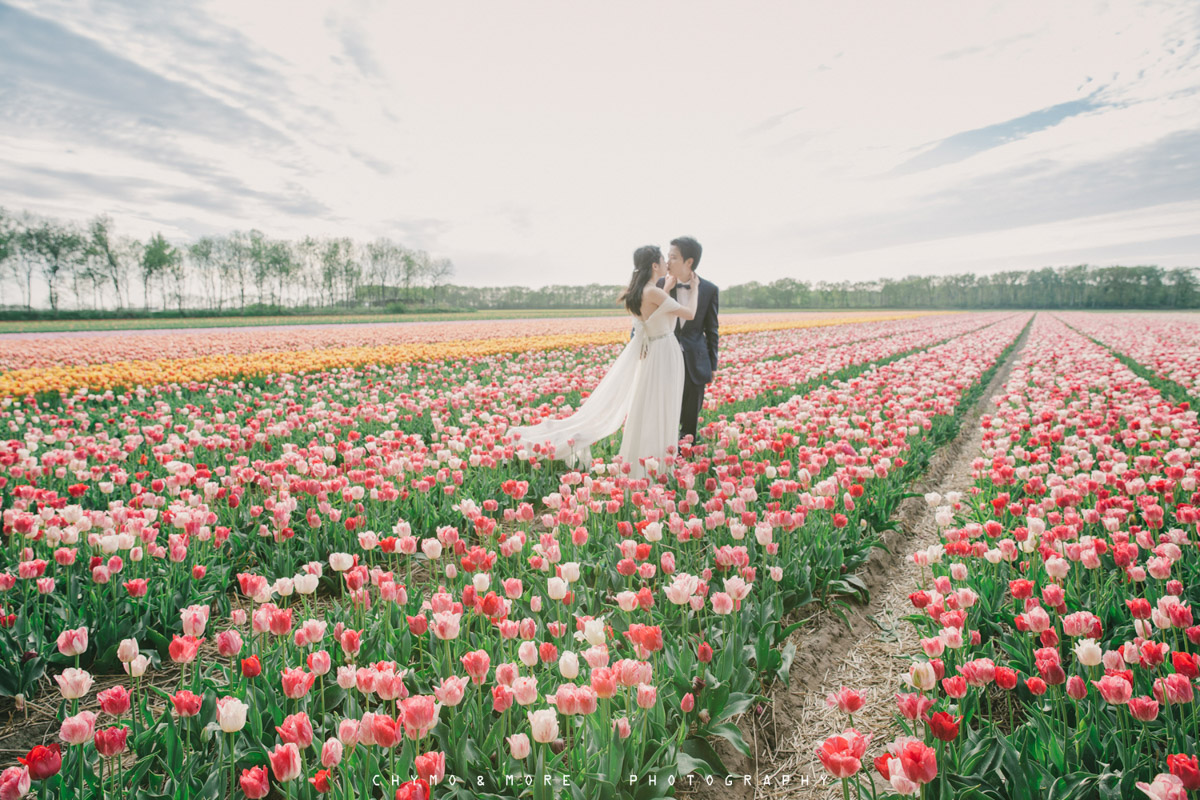 Bruiloft in het Tulpenveld - CHYMO & MORE Photography