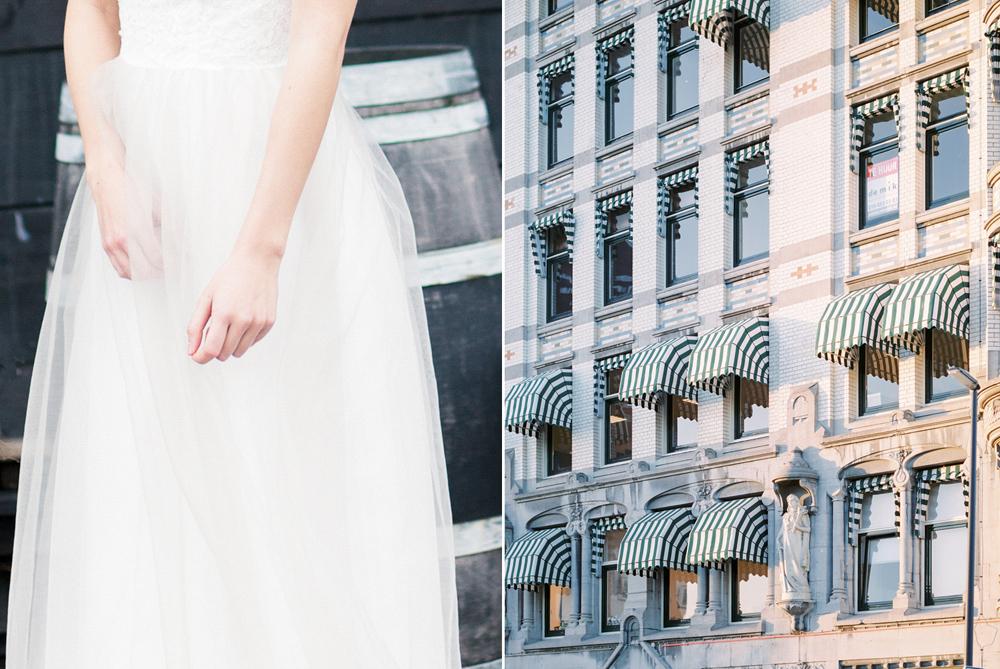 Fine art wedding detail shot on film