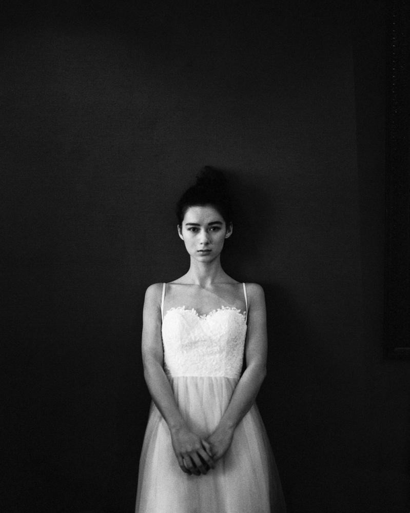 Fine art portraiture - black and white film portrait photography