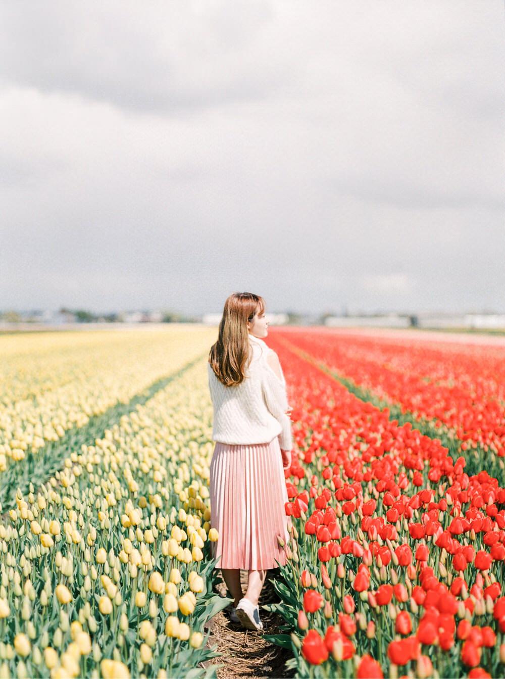 Netherlands Amsterdam Flower Field Portrait Photography - CHYMO
