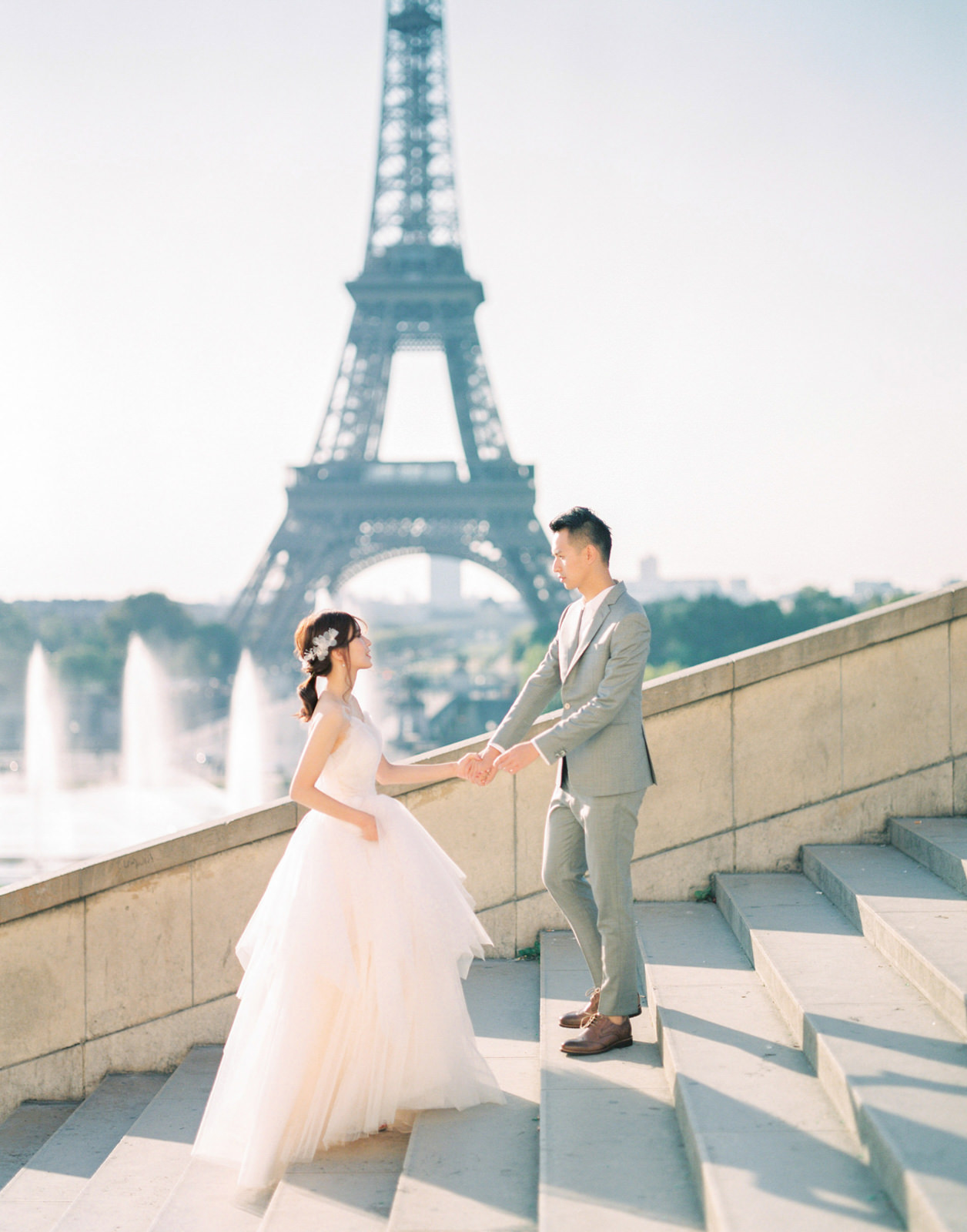 Eiffel Tower Paris Destination Enagement Photography by CHYMO &