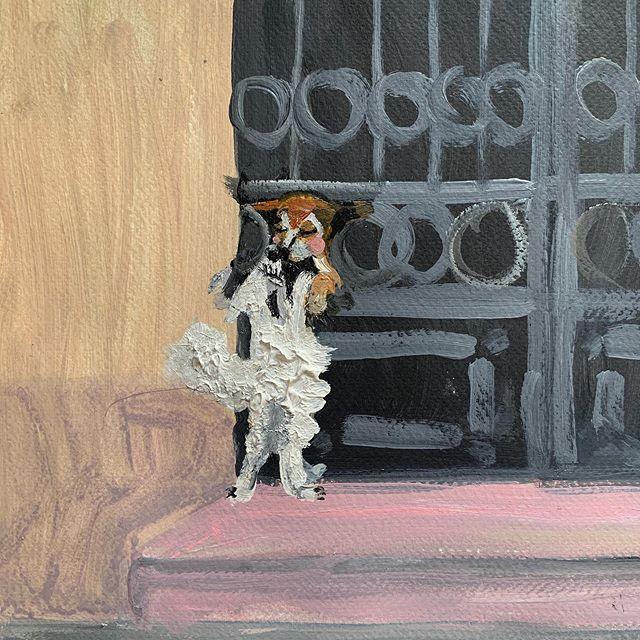 the kiss #ohdelaval #oh #dogs #dog #instaart #artsy #painting #artgallery #arts #fineart #contemporaryart #modernart #park #paris #creative #collageart #myart #arty #jungle #artcollector #artwork  #artcollector #london #artofinstagram#arte #nyartist #paintings #ny #artstagram#artstudio #love